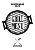 Grill menu isolated on white background,  Royalty Free Stock Image