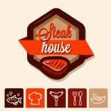 Grill menu logo Stock Photos