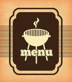 Grill menu. Over pink background vector illustration Stock Photo
