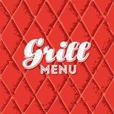 Grill Menu Seamless Background royalty free stock photo