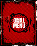 Grill Menu Sign Stock Image