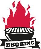 Grill mit Flamme lizenzfreie abbildung