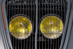 A grill of an old car Stock Photography