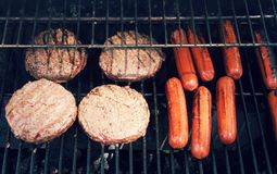 Grill out food for cook out. A bunch of grill out food for cook out Royalty Free Stock Photo