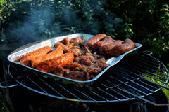 Grill outdoors Stock Photo