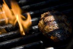 grill, płomień Zdjęcia Stock