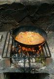 Grill paella  Stock Photo