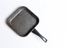 Grill pan isolated on white background Royalty Free Stock Photo