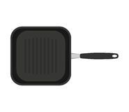 Grill pan isolated on white background. Top view vector illustration. Stock Photography