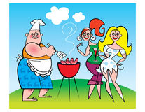 Grill-Party lizenzfreie abbildung
