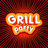 Grill party design. Royalty Free Stock Photo