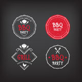 Grill partyjna ikona BBQ menu projekt Zdjęcie Royalty Free