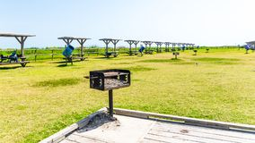 Grill and Picnic Shelters In A Park royalty free stock photography