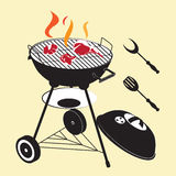 Grill with pieces of different meat. Set of grill with pieces of different meat Stock Photos