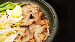 Grill pork in japan food style with suace Stock Image