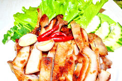 Grill pork (Thai style food) Stock Photos