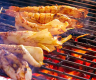 Grill prawn Stock Image