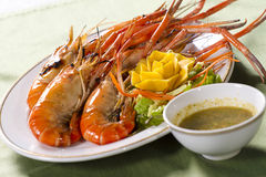 Grill prawns Stock Photography