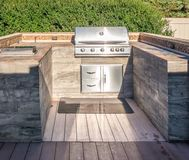 Grill at private backyard Royalty Free Stock Photos