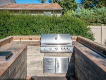 Grill at private backyard Royalty Free Stock Photography