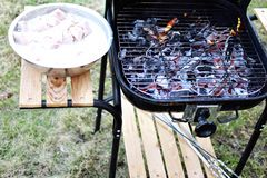 Grill ready for product placement stock photography