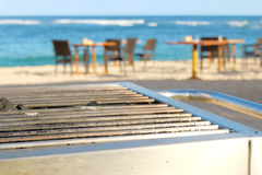 Grill restaurant by the sea Stock Photography