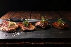 Grill Rib Eye Steak - trockenes gealtertes Wagyu-Mittelrippe vom Rind-Steak stockfotos