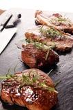 Grill Rib Eye Steak - trockenes gealtertes Wagyu-Mittelrippe vom Rind-Steak lizenzfreie stockfotografie