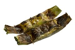 Grill rice wrap in banana leaf Stock Images