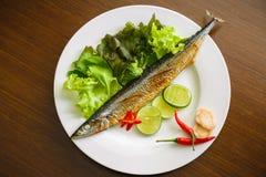 Grill ryba Obrazy Royalty Free