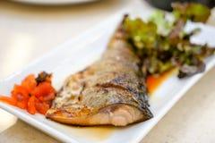Grill Saba Fish Lizenzfreies Stockbild