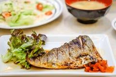 Grill Saba Fish Stockfotografie