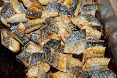 Grill saba fish Royalty Free Stock Images