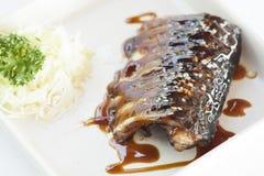 Grill saba fish Royalty Free Stock Image