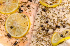 Grill Salmon And Carp Royalty Free Stock Image