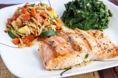 Grill salmon dish Stock Photography