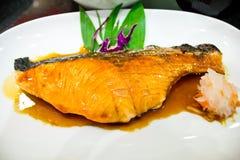 Grill salmon Royalty Free Stock Photos