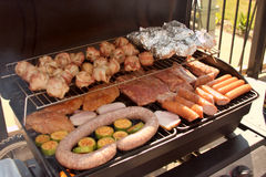 Grill - sausage and meat Royalty Free Stock Photos