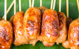 Grill sausage from Thailand Royalty Free Stock Photography