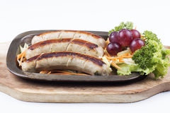 Grill Sausage and vegetables Stock Image