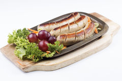 Grill Sausage and vegetables Royalty Free Stock Photo