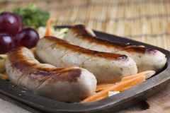 Grill Sausage and vegetables Stock Photography