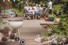 Grill in garden royalty free stock image