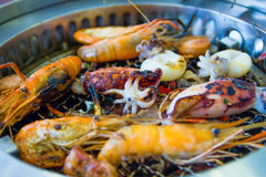 Grill sea food Stock Photos