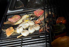 Grill seafood Stock Photos