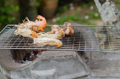 Grill seafood Stock Photography