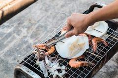 Grill seafood Stock Photos
