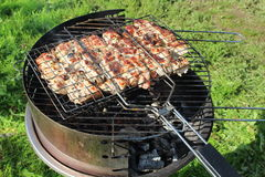 Grill for shish Stock Images