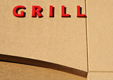Grill sign Stock Photo