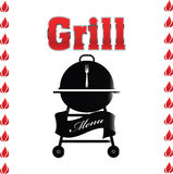 Grill sign Royalty Free Stock Image